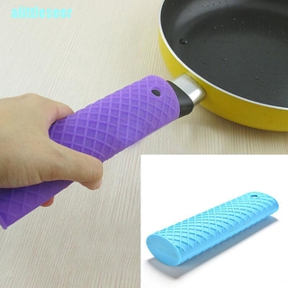 【Per】Silicone Pot Pan Handle Saucepan Holder Sleeve Slip Cover Grip Kitchen Utensils