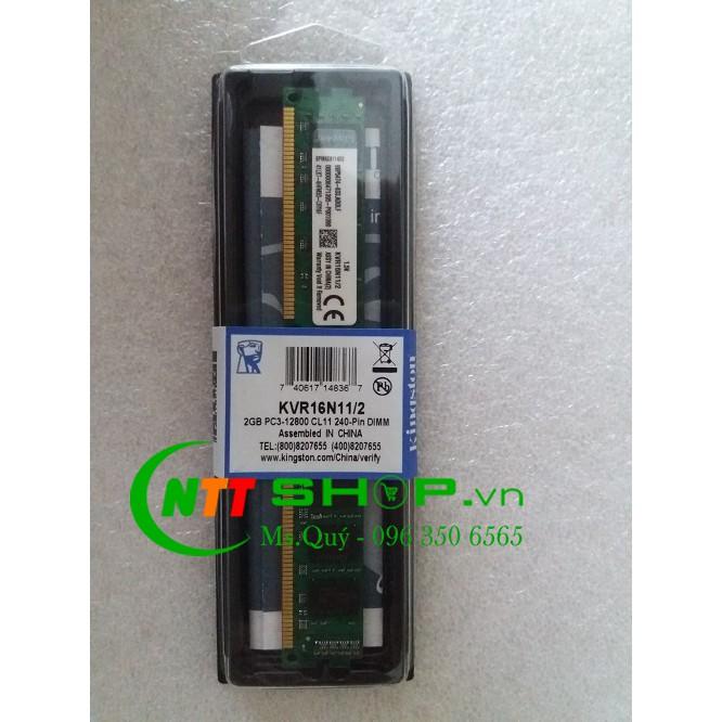 Ram PC Kingston DDR3 2GB Bus 1600MHz PC3 12800 Giá chỉ 220.000₫