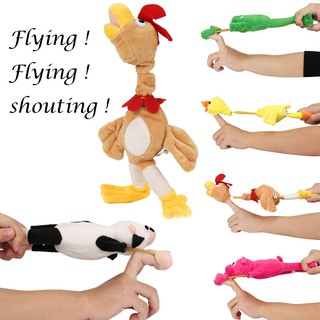Funny Flying Animal Dolls Plush Toys Screaming Surprise Funny Toy For Children