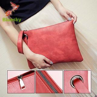Túi cầm tay màu trơn thiết kế đơn giản cho nữ