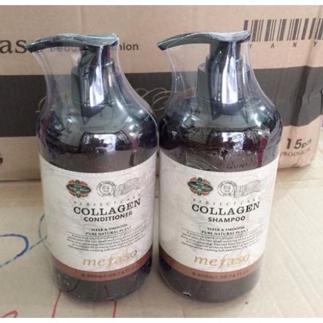 Bộ dầu gội xả Collagen Mefaso 750ml/chai