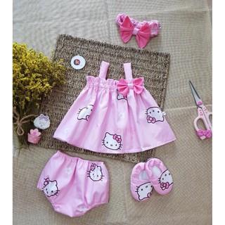 [MUA 1 TẶNG 3] set ĐẦM THIẾT KẾ mèo Kitty cho bé, chất vải cotton lụa siêu mềm – mịn – HÀNG ĐỘC QUYỀN đẹp lạ – giá tốt