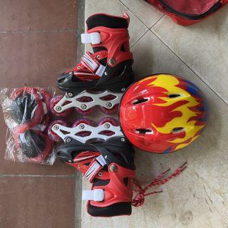 Giày patin trẻ em 4 bánh NHSGPT003 (Tặng combo mũ và đồ bảo hộ chân tay)- TỔNG KHO GIA DỤNG GIA ĐÌNH