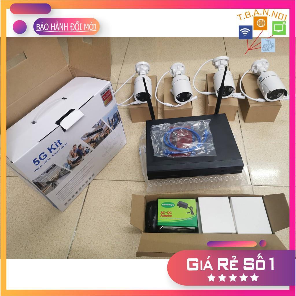 Trọn bộ kit 4 Camera ip wifi full hd 1080p cắm là chạy ( Full phụ kiện lắp đặt, HDD tùy chọn từ 250Gb đến 2Tb )