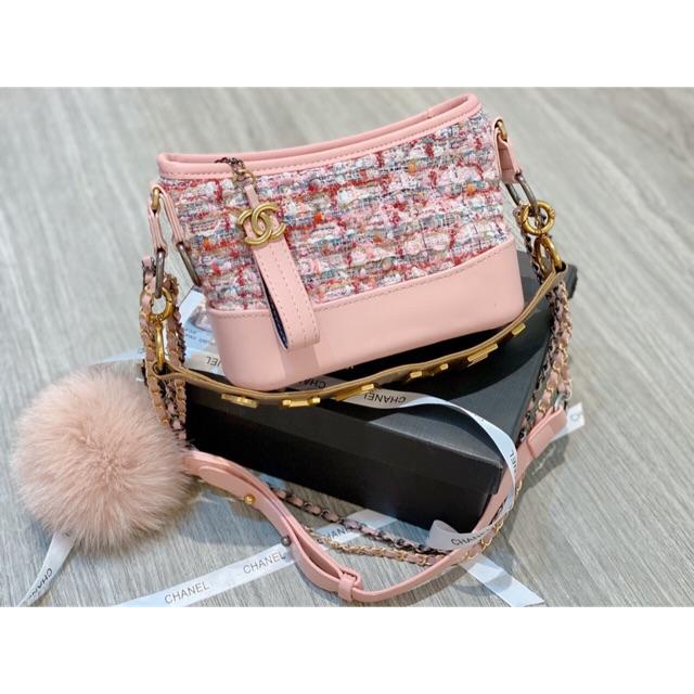 Túi đeo chéo Chanel_hobo_quai_logo_dạ_Hàng Super cc