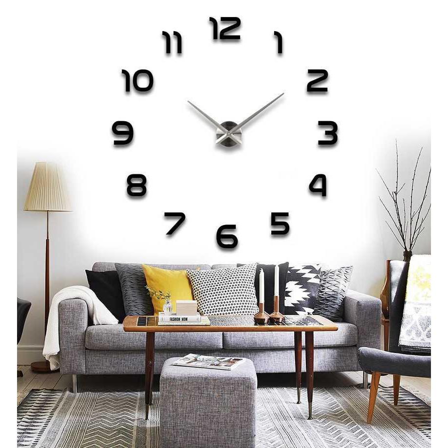 Đồng hồ dán tường DIY phong cách cổ điển, mẫu số 1