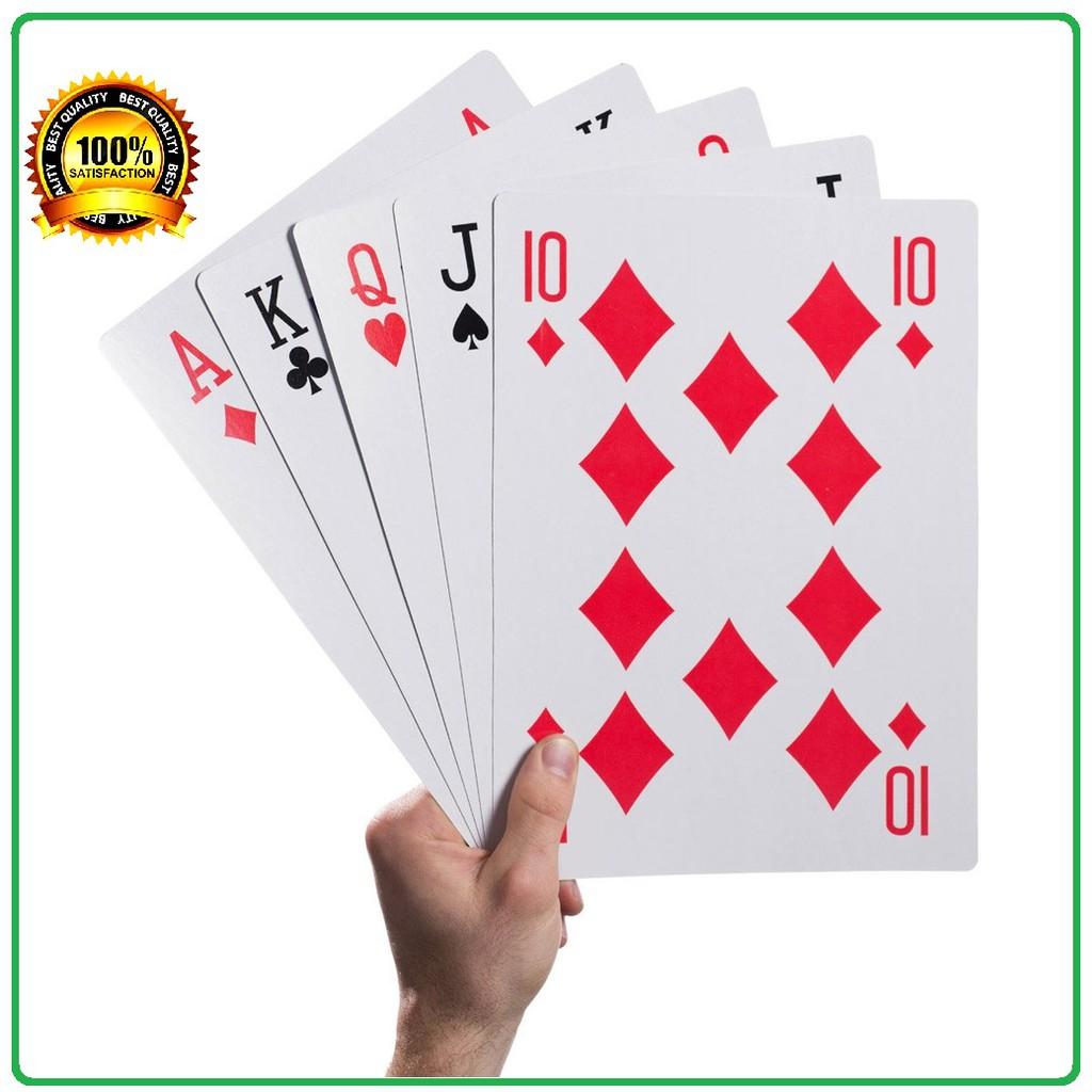 Bộ bài tây/ bài poker kích thước lớn,cỡ lớn, loại to – Bộ Bài Tây Bài Poker khổng lồ A4