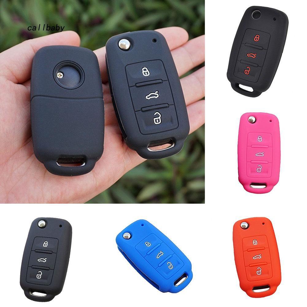 CLBB_Silicone Key Case Cover For VW Golf Polo Passat Tiguan Jetta Bora Remote Fob