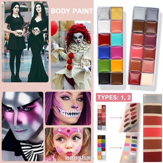 Festival Cosmetic Non-toxic Tattoo Pigment 12 Colors Cosplay Halloween Party Face Makeup Body Paint