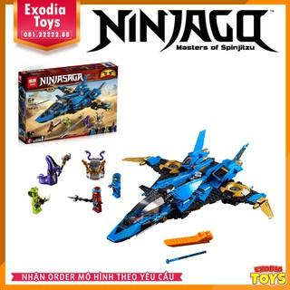 Mô hình lắp ráp Phi Thuyền Tia Chớp Jay – NinjaGo Jay Storm Fighter | LEPIN 06096 – Lego Ideas 70668