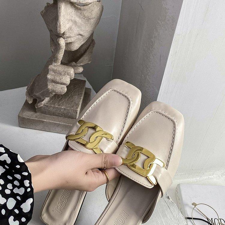 Giày Búp Bê Da Giả Mũi Vuông Thời Trang Cho Nữ
