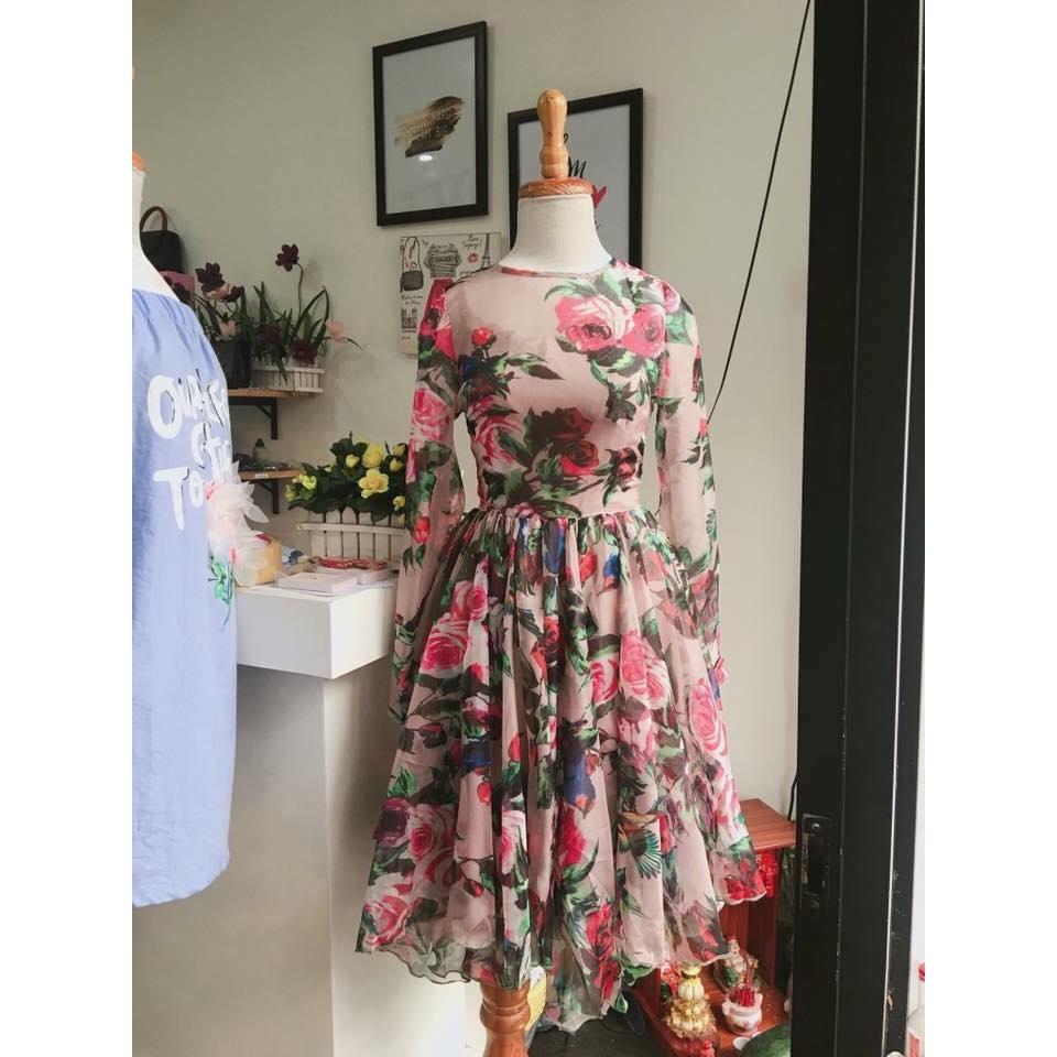 Váy xòe chất tằm ý