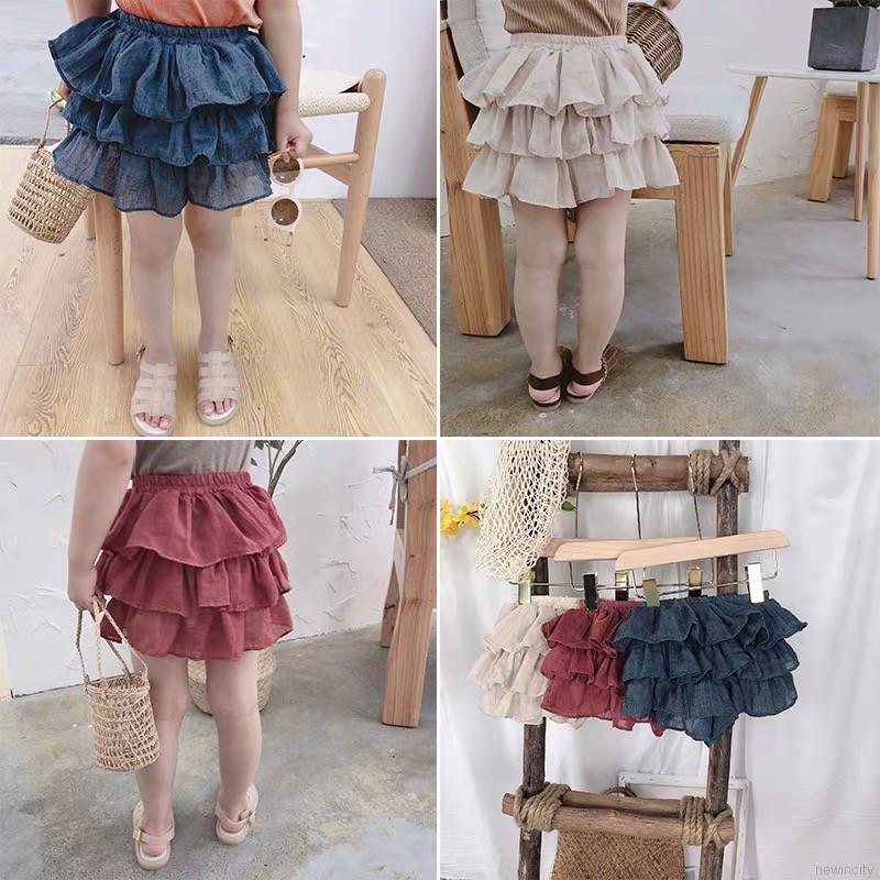 Váy lưới co dãn kiểu dáng Hàn Quốc dễ thương cho bé gái