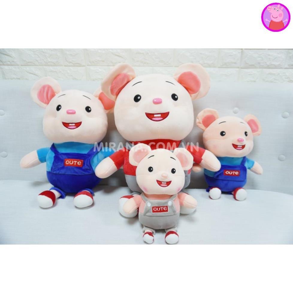 Gấu Bông Chuột Cute ngộ nghĩnh đáng yêu Chất liệu vải cao cấp mềm mịn nhồi bông gòn an toàn cho bé