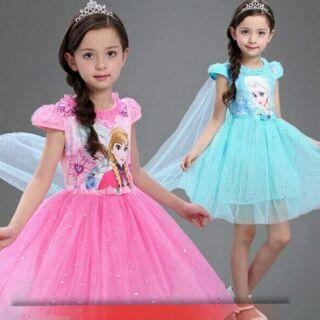 Đầm Elsa áo choàng dài