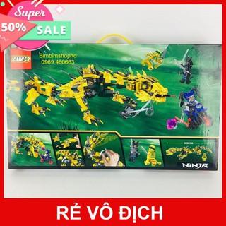 Sale 11.11 Bộ Lego Xếp Hình Chiến Binh Rồng Vàng Siêu Hạng. Lego Ninja xếp hình cho bé trai siêu hot.