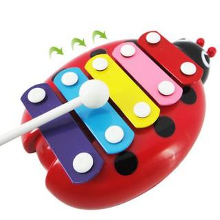 Children Cute Beetle Design Hand Knock Piano Toy Intelligence Development Sound