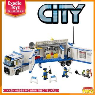 Bộ xếp hình đơn vị cảnh sát di động – Mobile Police Unit | BELA 10420 – Lego Ideas 60044
