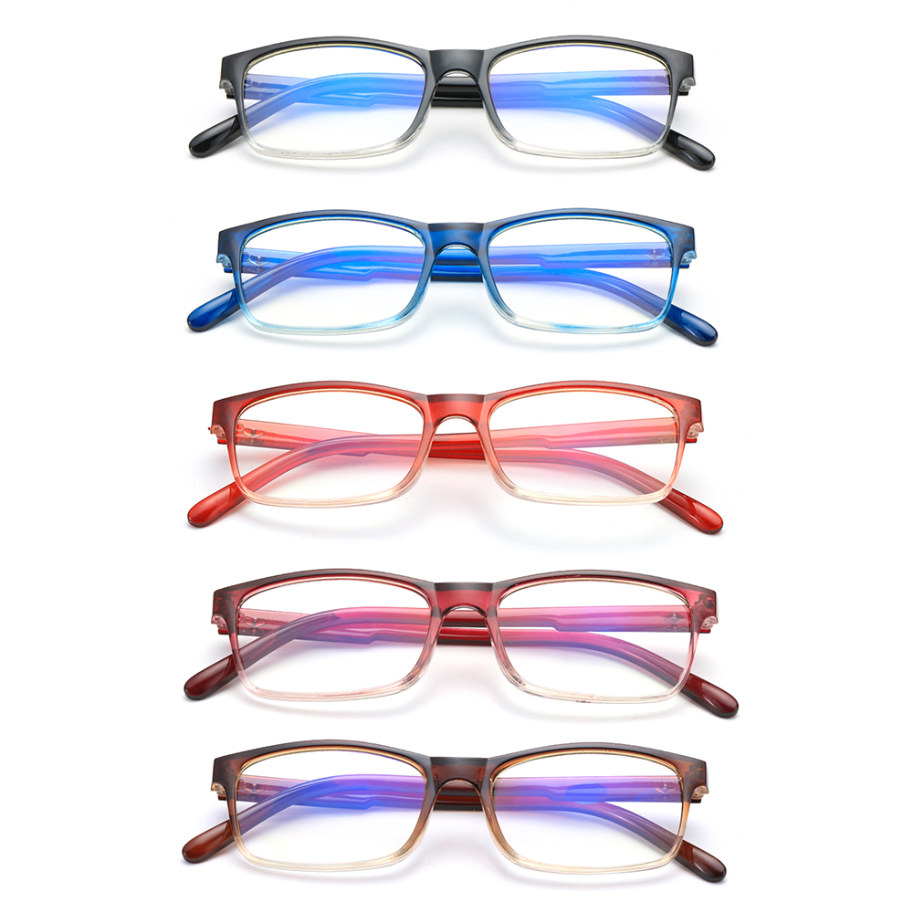 🎈FUTURE🎈 Fashion Blue Light Blocking Spring Hinge Presbyopic Glasses Gradient Reading Glasses Vision Care Diopter +1.0~4.0 Ultralight Eyewear Readers black/blue/purple