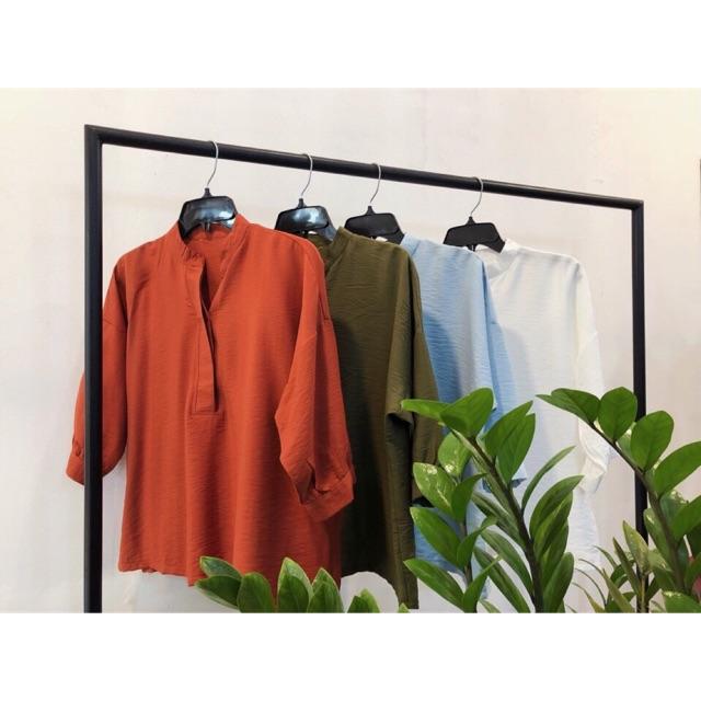 Áo Somi kiểu Đũi 4 màu ( Ảnh bìa là ảnh thật)