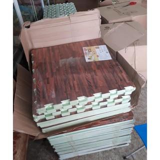 Thảm xốp vân gỗ 1 bộ 6 miếng 60x60cm (Thảm xốp lót nhà trải sàn)