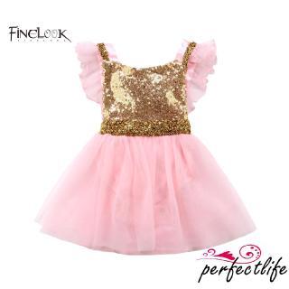 ★HZLGirl Baby Sequin Bow Romper Dress Princess Dress Birthday Party Wedding Dress