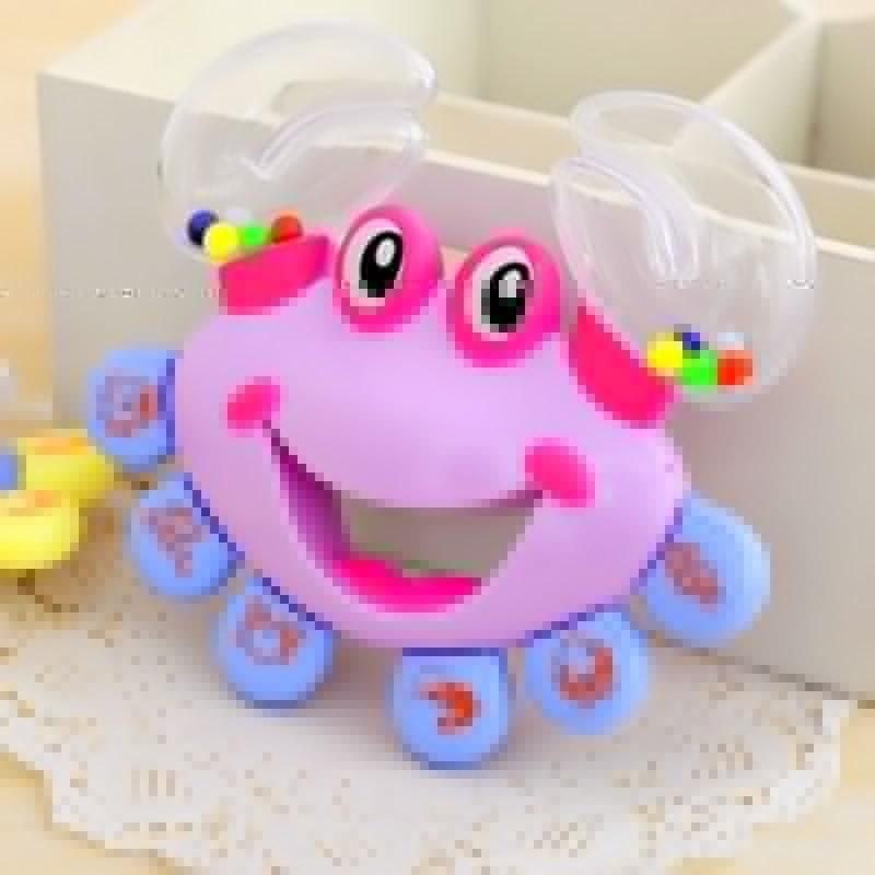 Plastic Baby Kid Toy Jingle Musical Educational Shaking Rattle Plastic Crab