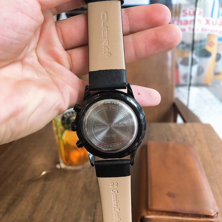 Đồng hồ nam CUENA day da chính hãng - Đồng hồ nam CUEA38