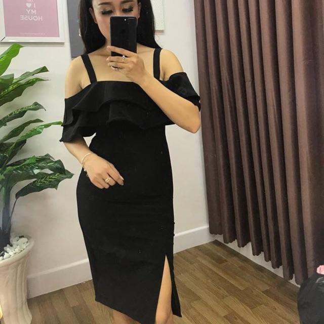 Đầm rớt vai body free size