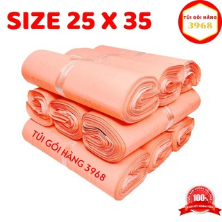 Túi gói hàng niêm phong cao cấp size 25 x 35 màu hồng đào