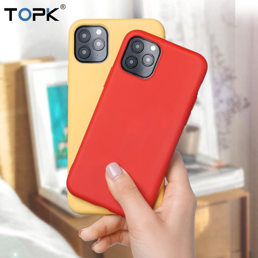 Ốp điện thoại TPU silicone mềm co giãn cho iPhone 11 Pro Max hiệu TOPK