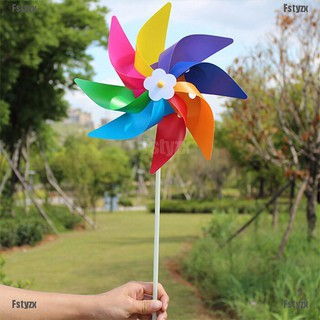Fstyzx Garden Yard Party Outdoor Windmill Wind Spinner Ornament Decoration Kids Toys