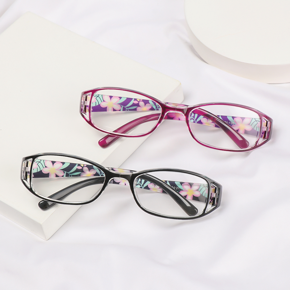 👗KAREN💍 Fashion Foldable Reading Eyeglasses Printing Computer Goggles Anti-blue Light Glasses Vision Care Vintage Classic Men Women Radiation Protection Folding...