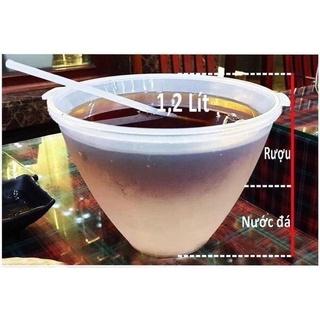 [Loại 1.2l] Bộ bát đựng làm mát rượu, ca đựng rượu TẶNG KÈM GÁO MÚC RƯỢU thumbnail