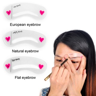 3P set Eyebrow Stencils 3types Reusable Eyebrow Drawing Guide Card Brow Template