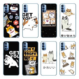 Cartoon Cute Cat Couple Silicone Back Cover OPPO Reno 5 Pro 5G/Find X3 Pro A55 A93 A15 A15S Soft TPU Case Shockproof