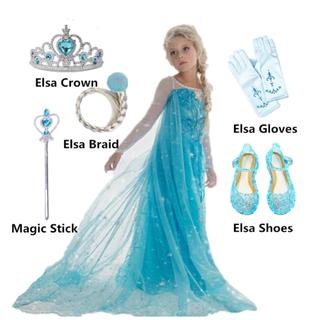 Bộ trang phục đầm công chúa frozen dành cho bé gái