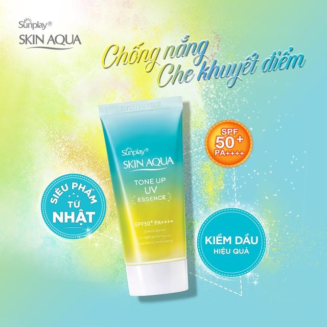 Mã COSMALL25 -10% ĐH 250K]Tinh chất chống nắng hiệu chỉnh sắc da Sunplay Skin  Aqua Tone Up UV Essence- Mint Green 50g | Shopee Việt Nam
