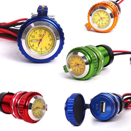 Đồng hồ gắn xe máy kiêm sạc điện thoại 2 in 1 - 3508149 , 1301408544 , 322_1301408544 , 199000 , Dong-ho-gan-xe-may-kiem-sac-dien-thoai-2-in-1-322_1301408544 , shopee.vn , Đồng hồ gắn xe máy kiêm sạc điện thoại 2 in 1