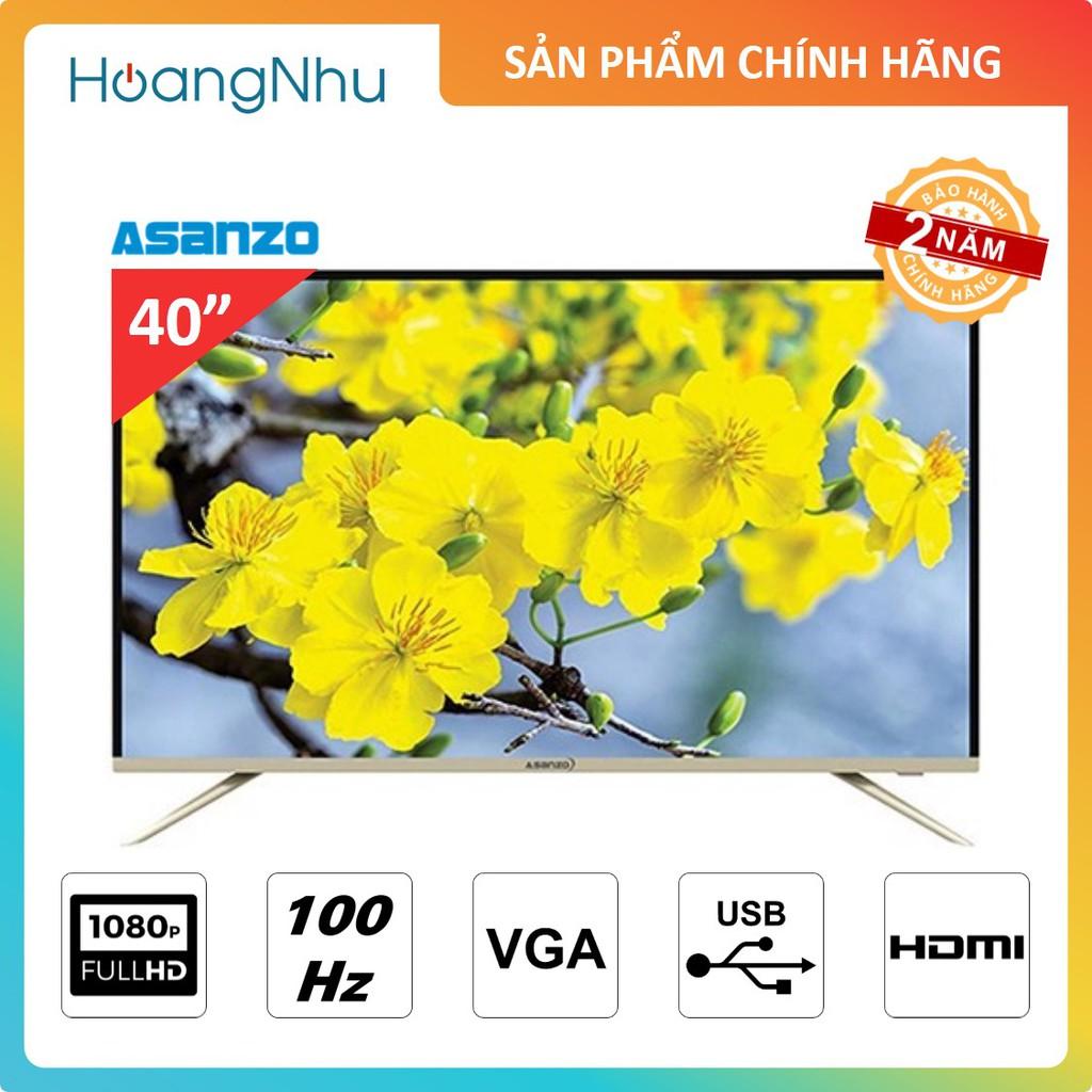 TV LED Asanzo 40S890 40 inch   TV thường   Màn hình Full HD