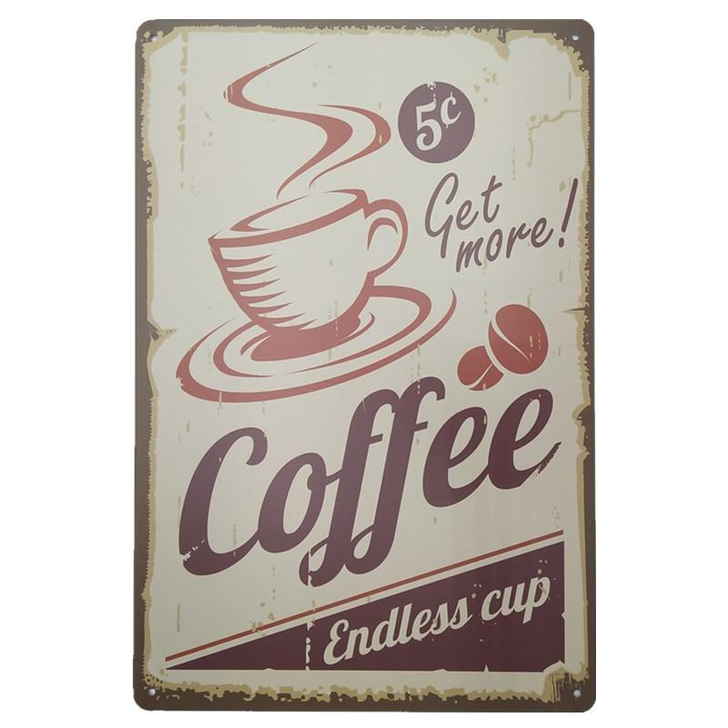 """Poster kim loại """" Coffee Endless Cup """" dùng để trang trí quán cà phê - 13963332 , 1639486311 , 322_1639486311 , 51700 , Poster-kim-loai-Coffee-Endless-Cup-dung-de-trang-tri-quan-ca-phe-322_1639486311 , shopee.vn , Poster kim loại """" Coffee Endless Cup """" dùng để trang trí quán cà phê"""
