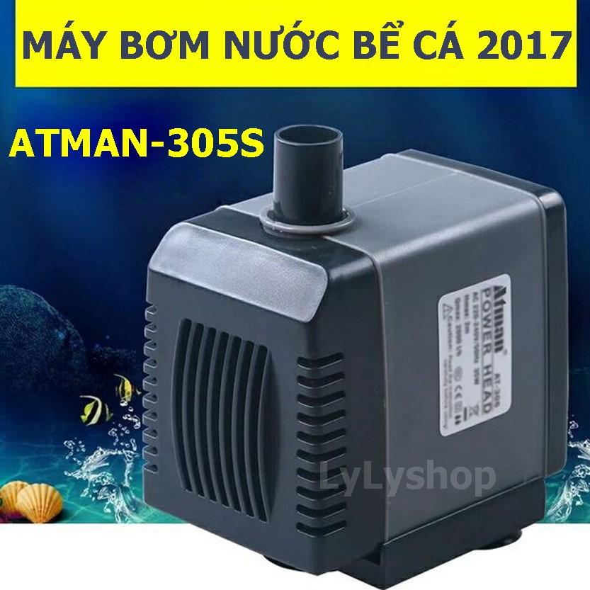 Máy bơm nước bể cá, hồ cá, đài phun nước mini ATMAN AT-305S tiết kiệm điện ( Đen)