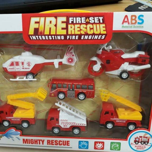 Hộp xe cứu hỏa và trực thăng