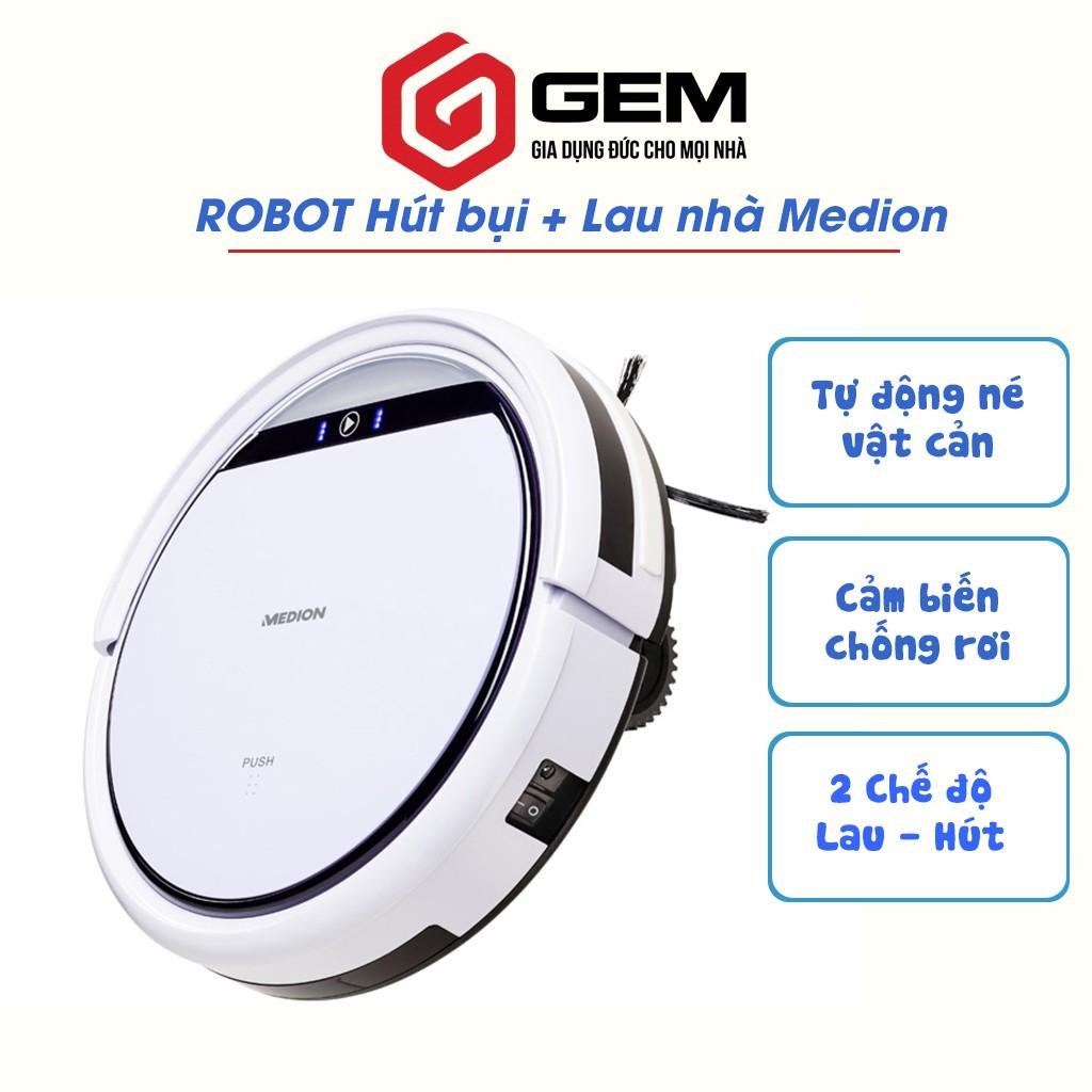 [Mã SKAMPUSH8 giảm 10% đơn 200K] Robot hút bụi lau nhà MEDION MD19510 - Robot dọn nhà thông minh - MD 18501 cải tiến