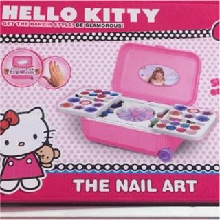 Hộp trò chơi vali kéo trang điểm làm móng tay nail Hello Kitty