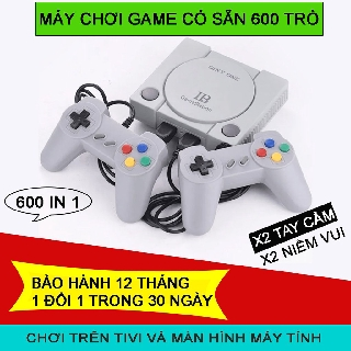 Máy Chơi Game 4 Nút 600 Trò Game Station phiên bản gtay cầm cao cấp nhất thế hệ 2020 thumbnail