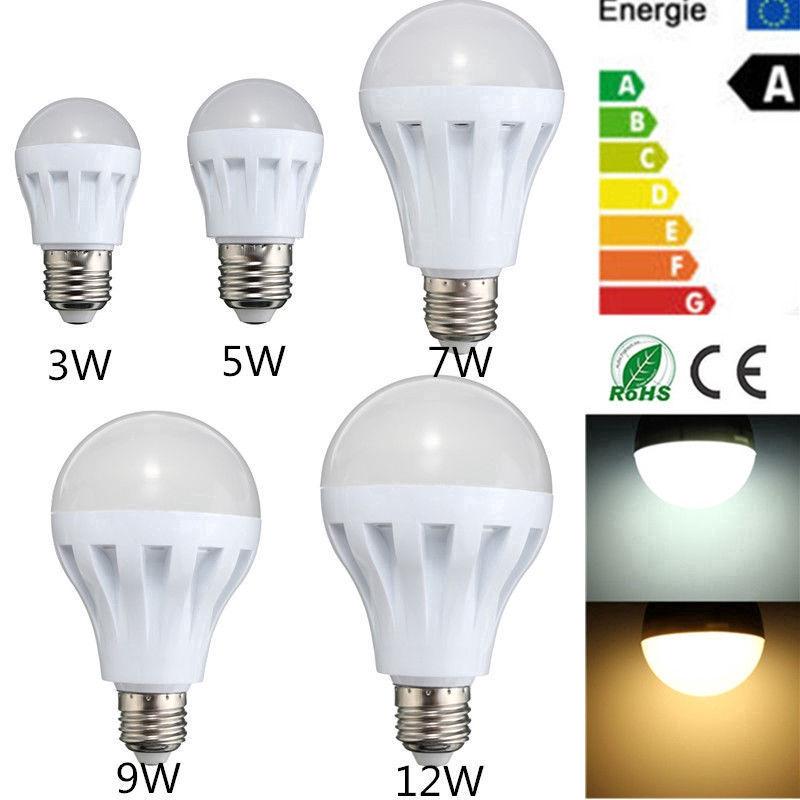 Bóng đèn LED E27 tiết kiệm năng lượng 3W 5W 7W 9W 12W 15W