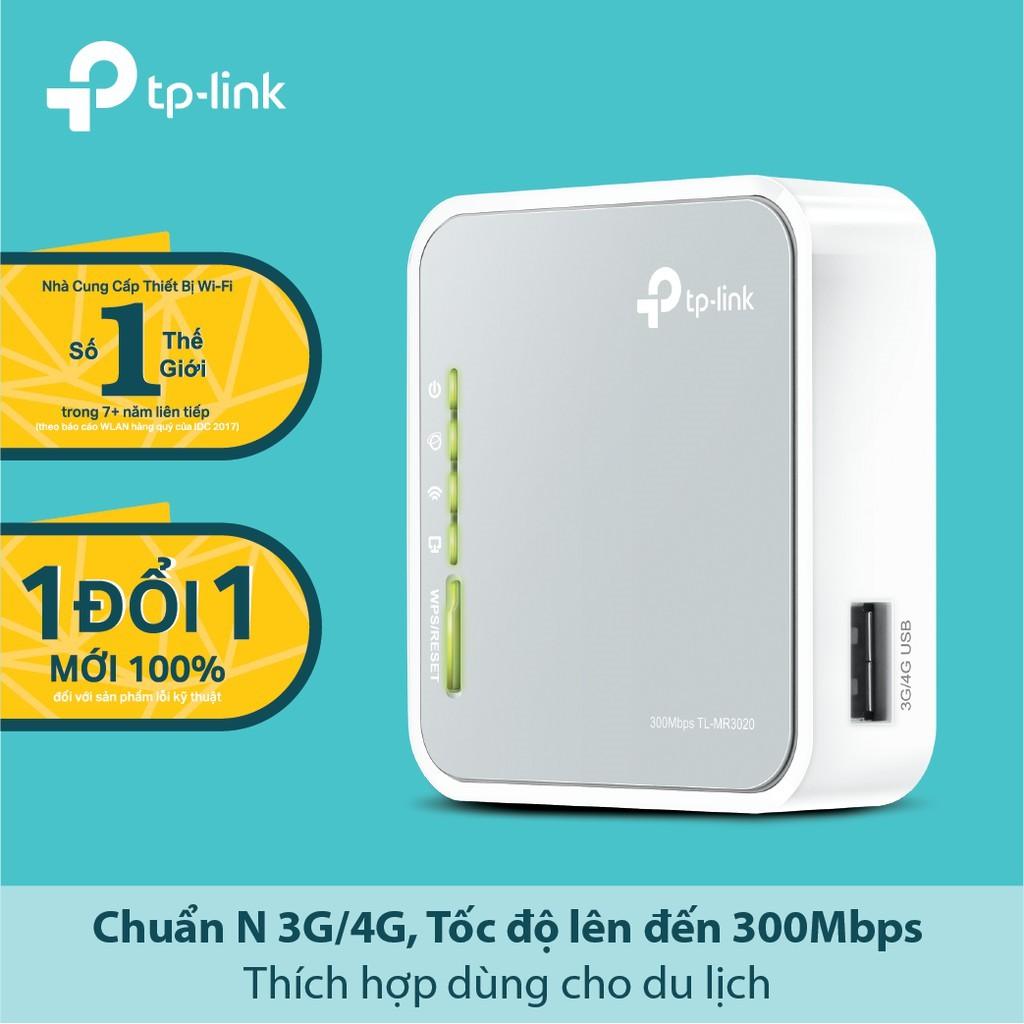 Router Wifi TP-Link TL-MR3020-Chuẩn N 300Mbps Không Dây 3G/4G-