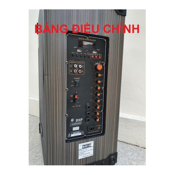 Loa kéo BNIB bas 30  Treble kèn âm thanh chất , kèm 2 micro hát thả ga