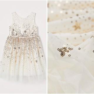 Váy trắng công chúa đính siêu xinh sz săn US sz 9-10y
